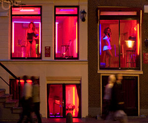 how much amsterdam red light district